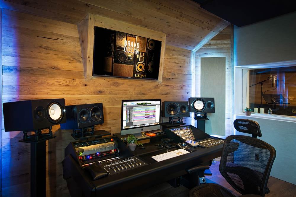 Control Room A in Bravo Ocean Studios