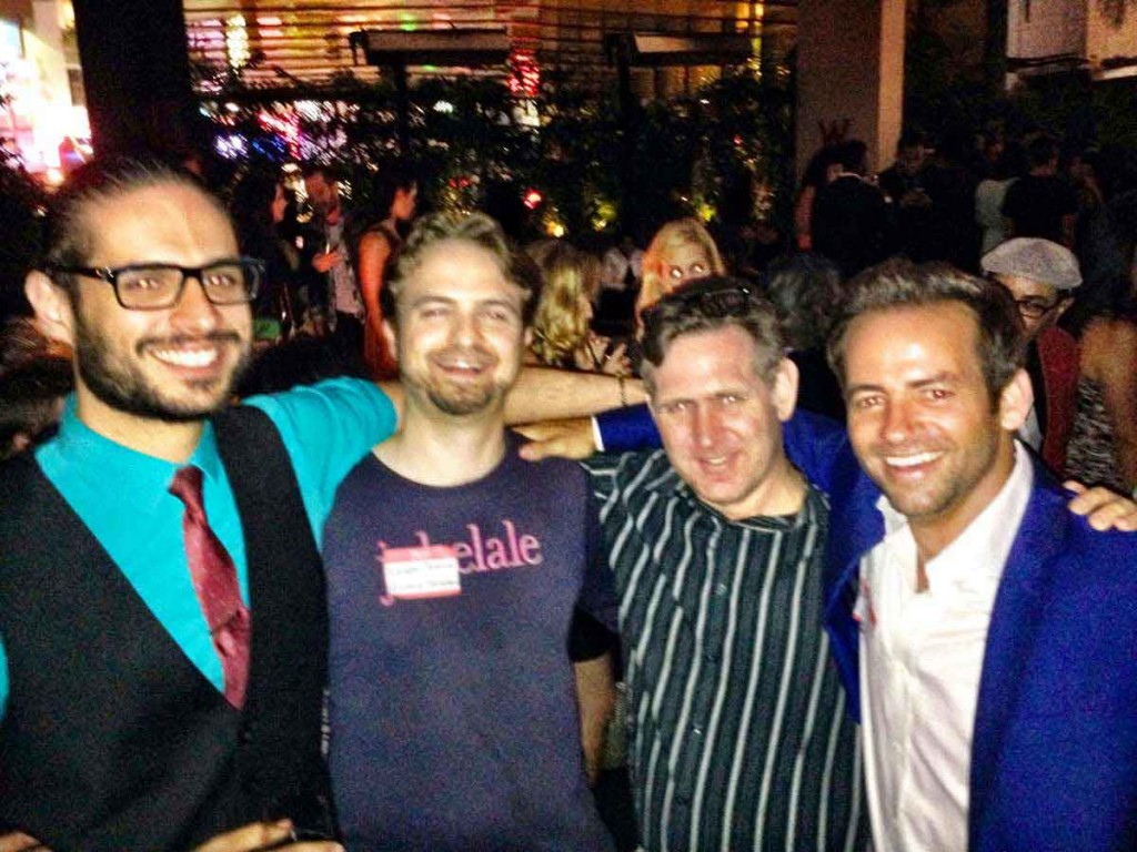 (Photo) From left to right: Alex Reyme (Film adviser), Xander Tennent (Admissions counselor), Daniel Sollinger (Los Angeles Film mentor), Michael Blume (Film apprentice)