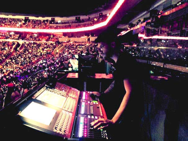 Dani Munoz, FOH for Flo Rida @ WWE Raw - Miami, FL