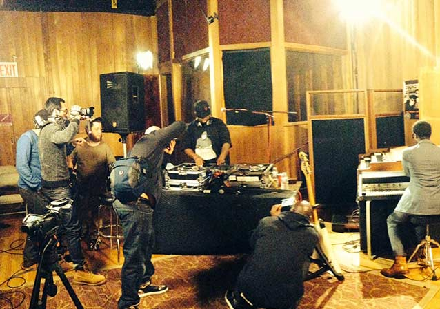 DJ Premier at Chung King Studios
