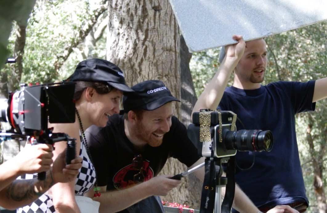 Directors Daniel Lir & Bayou Bennet, with apprentice Mike Dusenka on the set