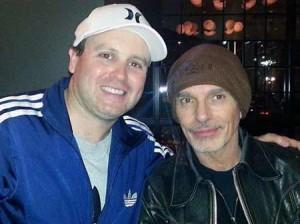 Zac Adams of Skydive Films with Billy Bob Thornton