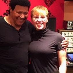 Daryn Davidson with Chubby Checker