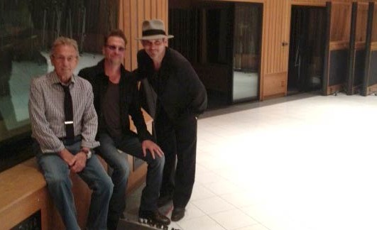 Legend Al Schmitt, Jimi Petulla, Brian Kraft in tracking room, Studio A at Capitol