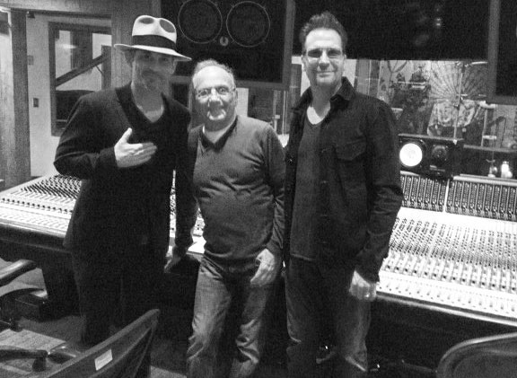 Brian Kraft, Buddy Brundo and Jimi Petulla in Studio C at Conway Recording Studios