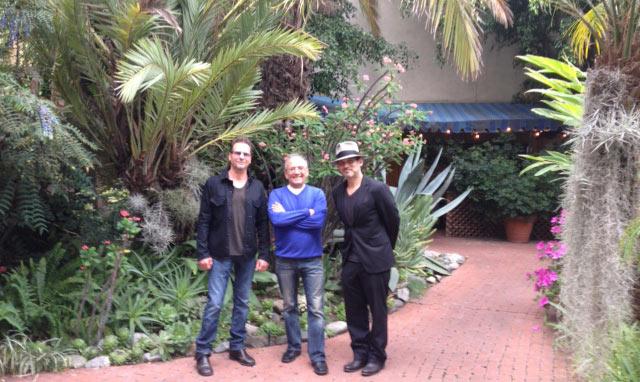 Jimi Petulla, Buddy Brundo and Brian Kraft in the Conway Recording Studios Garden