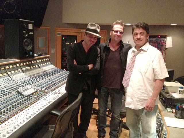 Brian Kraft, Jimi Petulla, Niko Bolas in Studio B at Capitol Studios