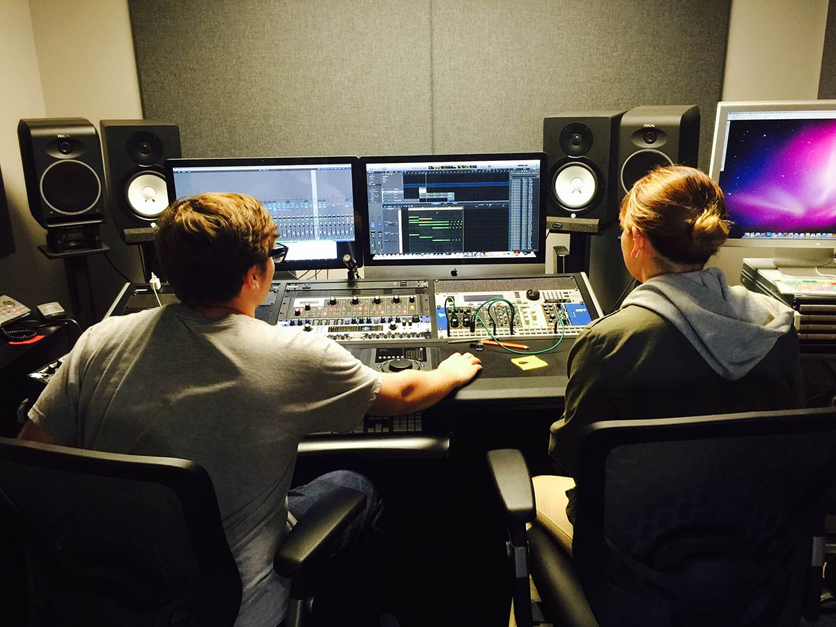 William & Catalina in The Abstract Recording Studio