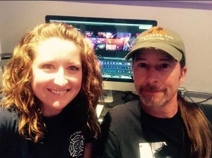 Jaclyn McGrew and mentor Wes Cobb