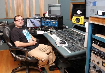 Recording Connection apprentice John Hill