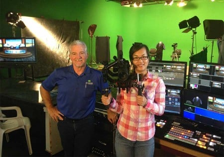 Ted Ruiz and Loan Nguyen at Ad-Venture Video Productions