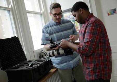 Brandon Faris and apprentice DeAndre Mays