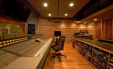 Control Room in Clear Track Studios
