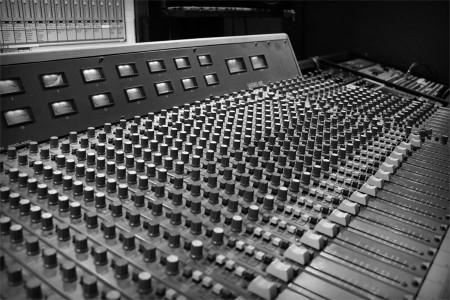 Console in DOB Sound Studios