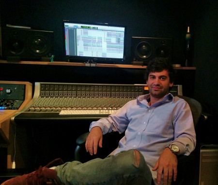 Recording Connection mentor Jesse Rothman in Terminus' B room.