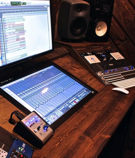 Control Room in Phaser Control Recording Studio