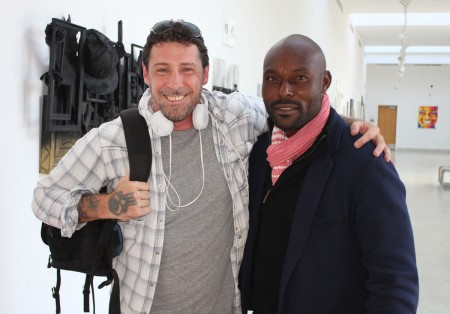 Film Connection apprentice Brian Kennedy with Jimmy Jean-Louis of Heroes