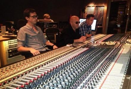 RC apprentice Hayden Lewis, Josquin Des Pres and Ian Sutton at Capitol Studios in Studio A.