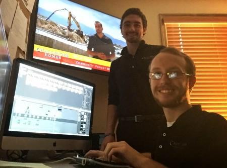 Ryan Lancaster and Michael Jessop at Castland Productions
