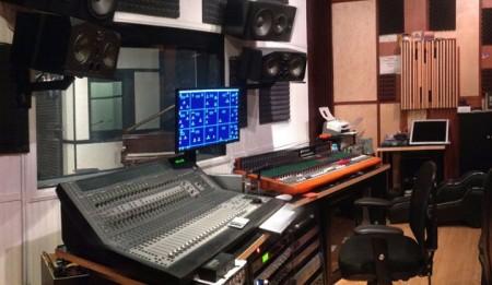 Control Room in Virlouise Recording Studios