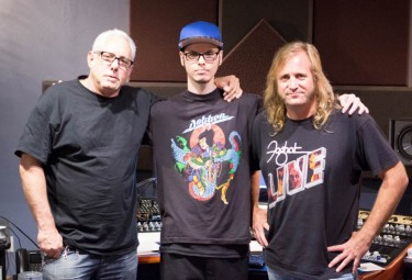 Billy Stokes, Tyler Stowe, and Barry Sparkes at Allusion Studios