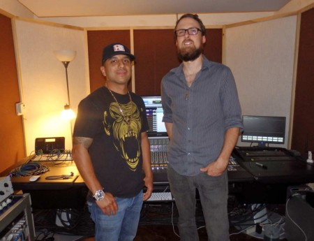 Arnulfo Perez and Nick Joswick at 5th Street Studios
