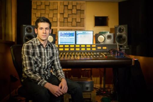 RC grad Mike Gevaza at Continental Recording Studio