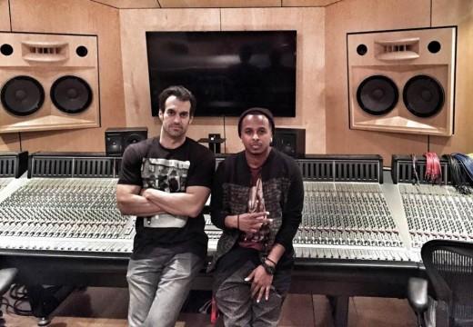 Recording Connection mentor Tre Nagella and Dez Ward at Luminous Sound