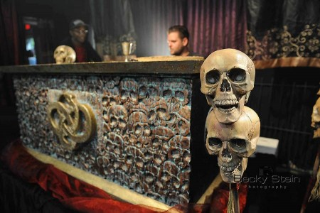 Altar prop built by Film Connection student Talmage Broome