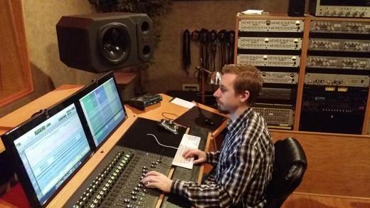 Tim Schumann at Track Star Studios