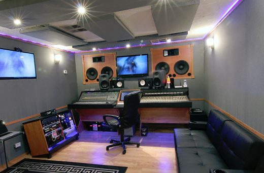 Control Room A in Maximus Music