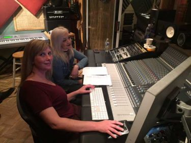 Recording Connection students Alexis Kirkbride and Dawnette Scolari
