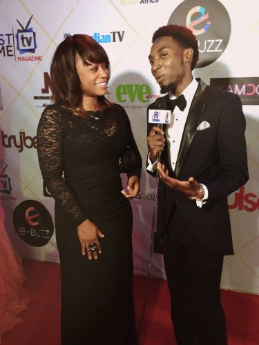 Producer Sharon Tomlinson interviewed on the red carpet at AMAA