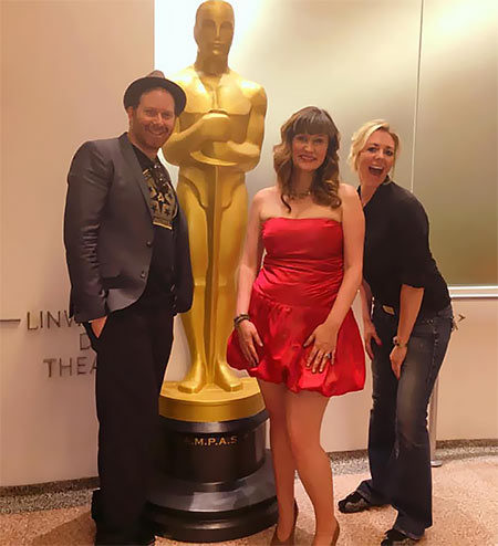 Film Connection mentors Daniel Lir and Bayou Bennett with apprentice Kim Ferrari