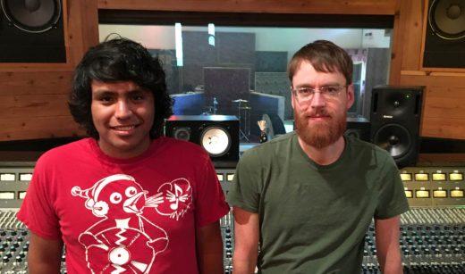 Caption: Mario Ramirez and Charles Godfrey at Sonic Ranch, El Paso, TX