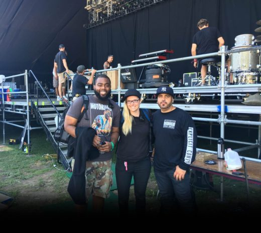 FOH manager for A$AP Rocky, Brandon Blackwell, RC grad Alexa Cooper, and Hector Delgado, A$AP Rocky's music producer and DJ