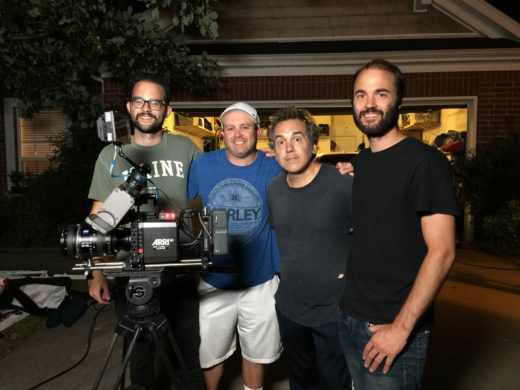 On the set of Sweet Tooth, FC apprentice Corey Pitts, Zac Adams, Mark Alan Peters, Mike Stryker