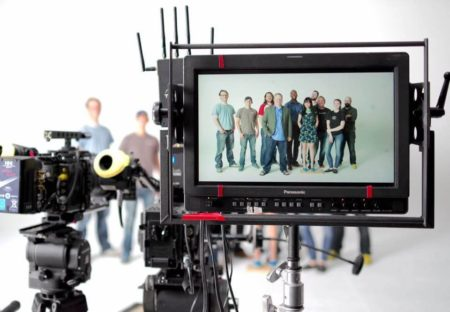 Jackson Porter (far left in blue t-shirt) with Fifty Films