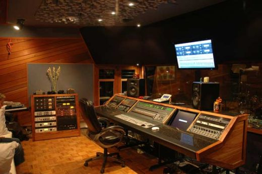 Control Room in Maui Recording
