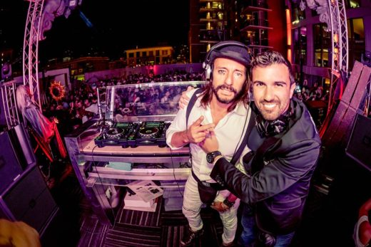 Kemal Erdem aka AXENZO and Bob Sinclair,  Hard Rock San Diego