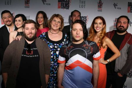 Cast and crew of Doucheaholics at Dances With Films