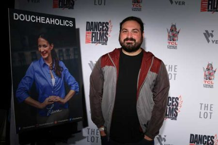 Film Connection grad Alex Geranios at the premiere of Doucheaholics