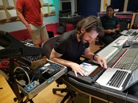 Leland Kracher in the Studio with RC Students