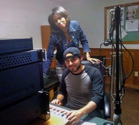 Radio Connection mentor Meredith Harris and student Morgan Davis