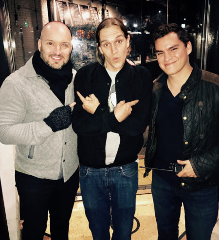 Rob Weston, Jason Mewes, and Juan Armijos on the set of A Madness in the Method