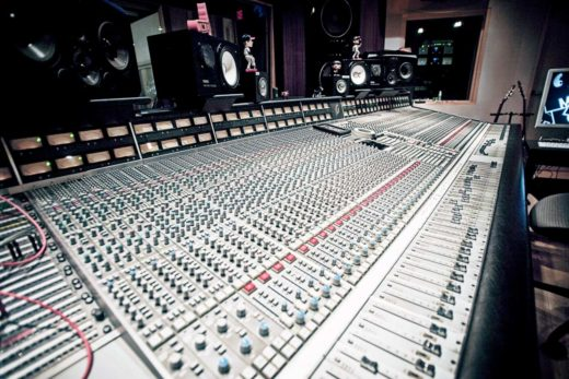 72-Channel SSL G-series console in Madison Studios' control room