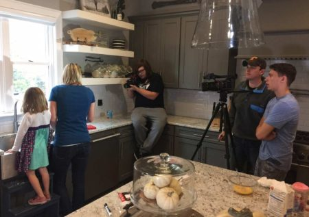 On the set of commercial for the Nesting Project
