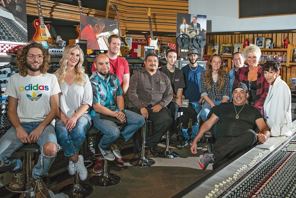 Chris Lord-Alge with Recording Connection students at Mix L.A Studios