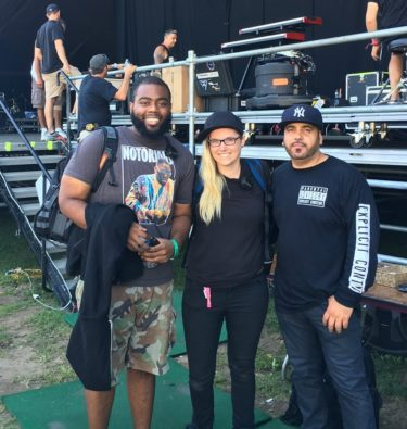 RC grad Alexa Cooper with A$AP Rocky's FOH Manager and DJ