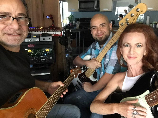 Adam Moseley, Fay Garrison, Uriel Soto at Fender